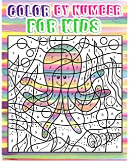 color by number for kids animals coloring book for kids ages 4 8 - Color Book For Kids