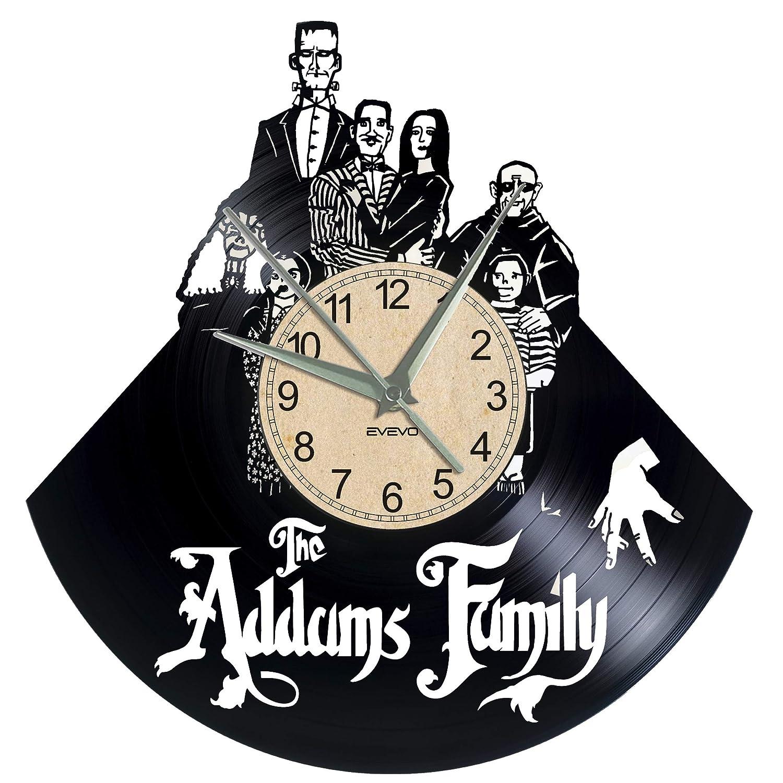 EVEVO Addams Reloj de Pared de Vinilo con diseño de Silueta ...