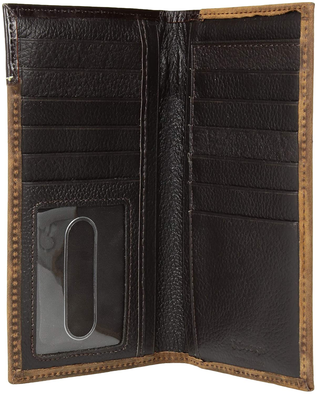 brown Nocona Belt Co Unisex-Adults Nocona Raw Triple Concho Rodeo Wallet