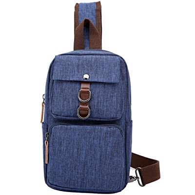 mygreen Mens Canvas Chest Pack Cross body Outdoor Travel Bag Rucksack Sling Backpack