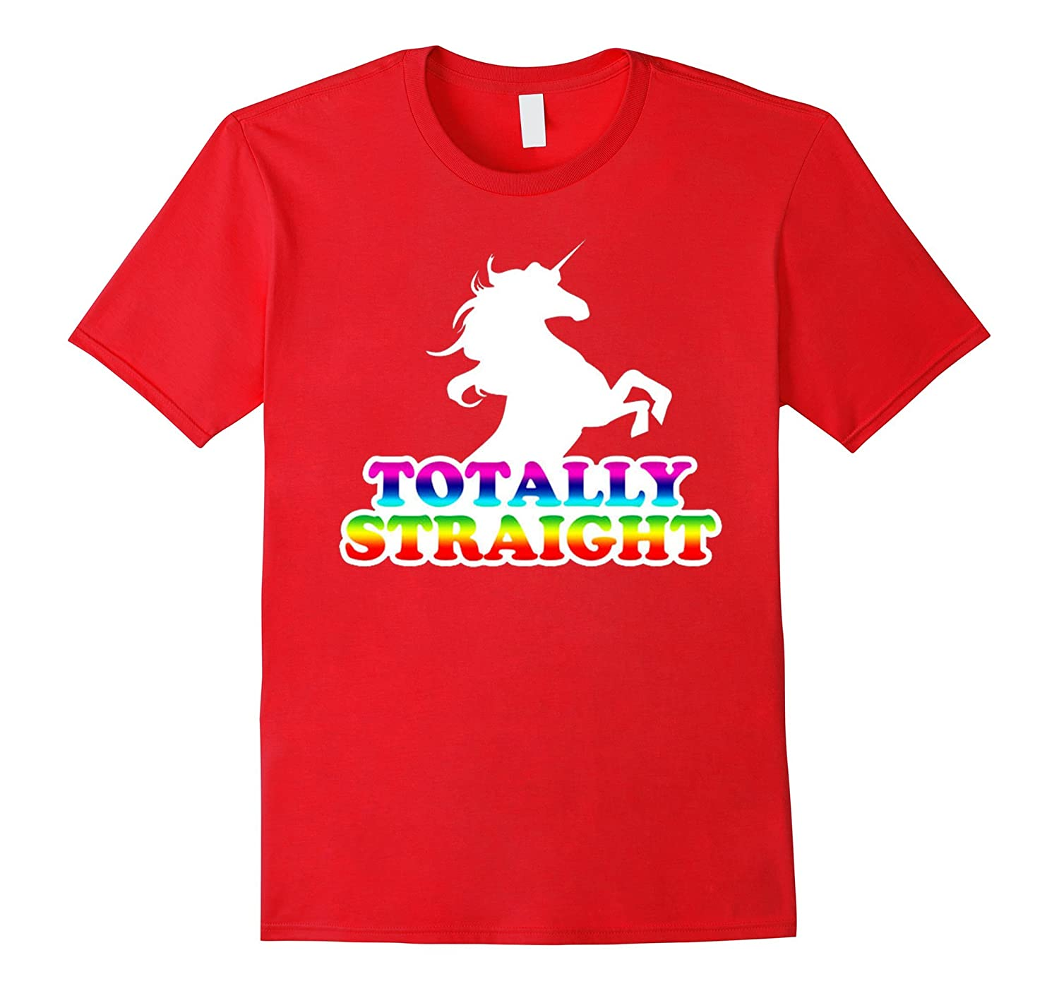 AW Fashions Totally Straight - Gay Pride Premium T-shirt-RT