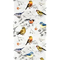 100 Bird Guest Napkins 3 Ply Disposable Paper Pack Colorful Birds Dinner Hand Napkin for Bathroom Powder Room Wedding…
