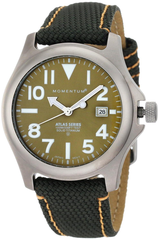 Momentum Herren-Armbanduhr XL ATLAS Analog Quarz Textil 1M-SP00G14G