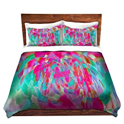 DiaNoche Designs Microfiber Duvet Covers Ruth Palmer - Hot Pink Chards