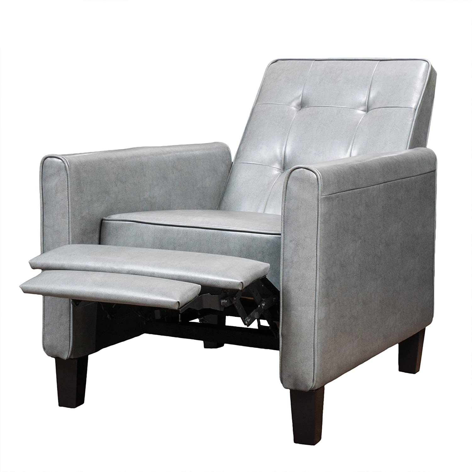 Amazon.com: Denise Austin Home Elan Tufted Bonded Leather Recliner Chair:  Kitchen U0026 Dining
