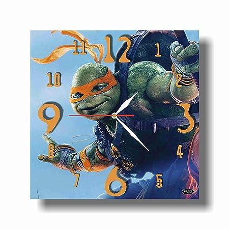 Reloj de pared hecho a mano con diseño de tortugas ninja de ...