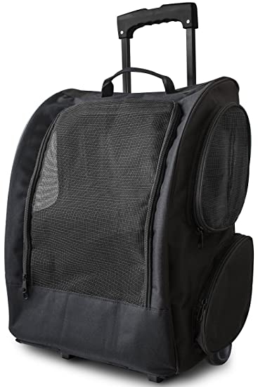 Amazon.com : OxGord Rolling Backpack Pet Carrier, 14 x 11 x 19 ...