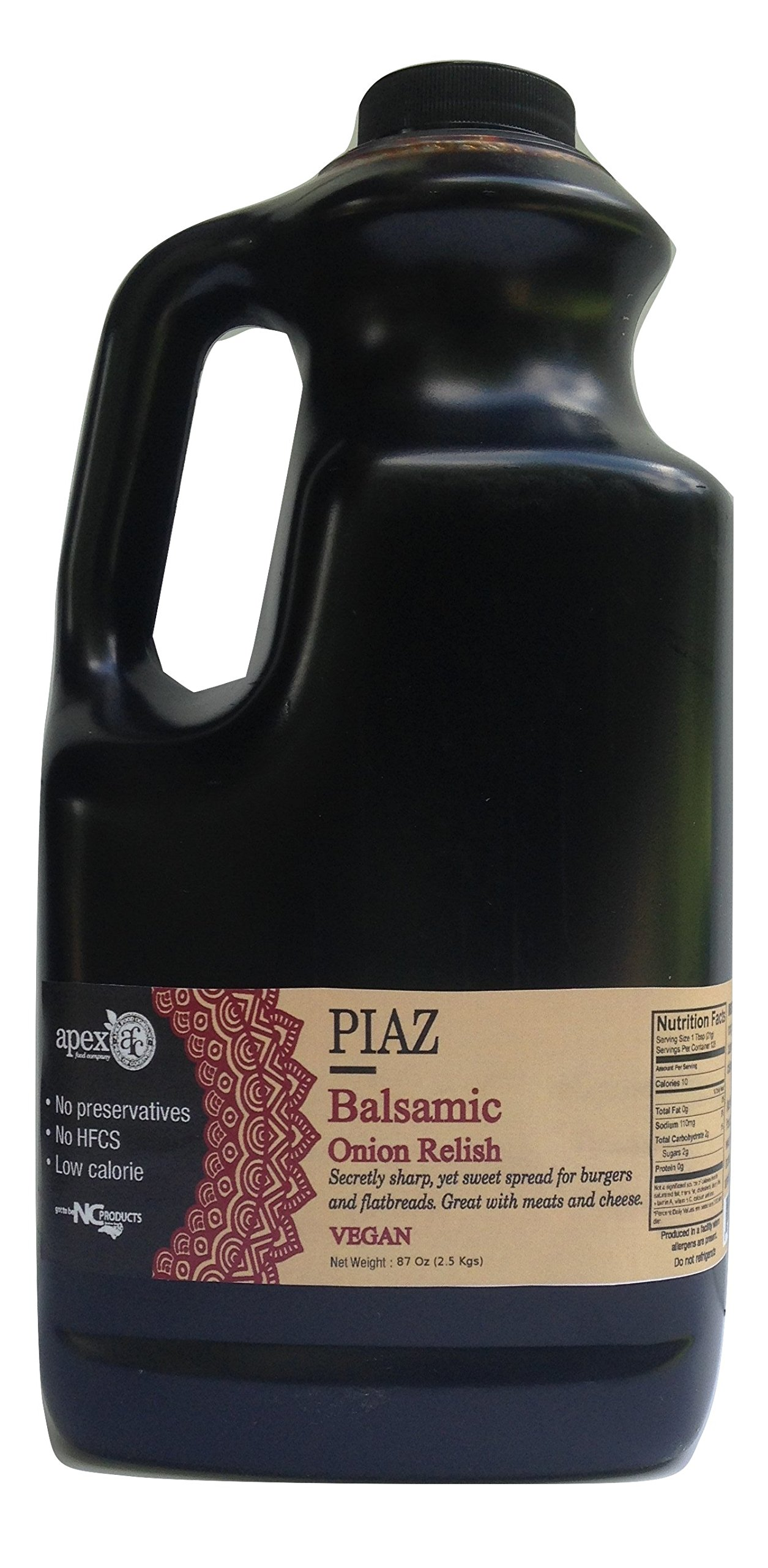 Piaz Balsamic Onion Relish 1/2 Gallon