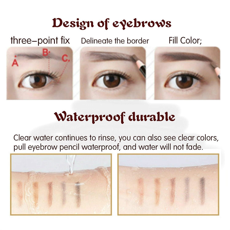 Amazon 12 Piece Waterproof Eyebrows Pencil Tattoo Makeup And