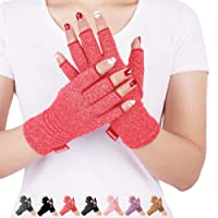 DISUPPO Arthritis Gloves Women and Men Relieve Pain from Rheumatoid, RSI,Carpal Tunnel, Compression Gloves Fingerless for Computer Typing, Dailywork, Hands and Joints Pain Relief