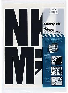 Amazoncom Chartpak PressOn Vinyl Numbers Self Adhesive Black - Self adhesive vinyl letters