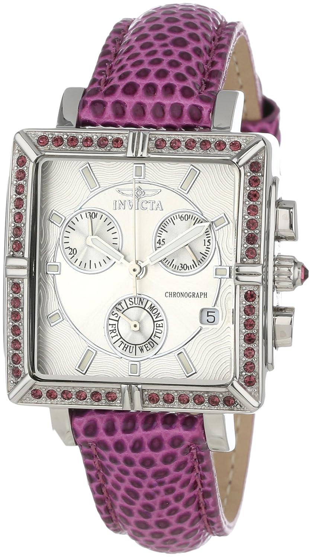 Invicta 10335 Women s Wildflower Classique Quartz Crystal Accented Purple Watch w 7-Piece Leather Strap Set