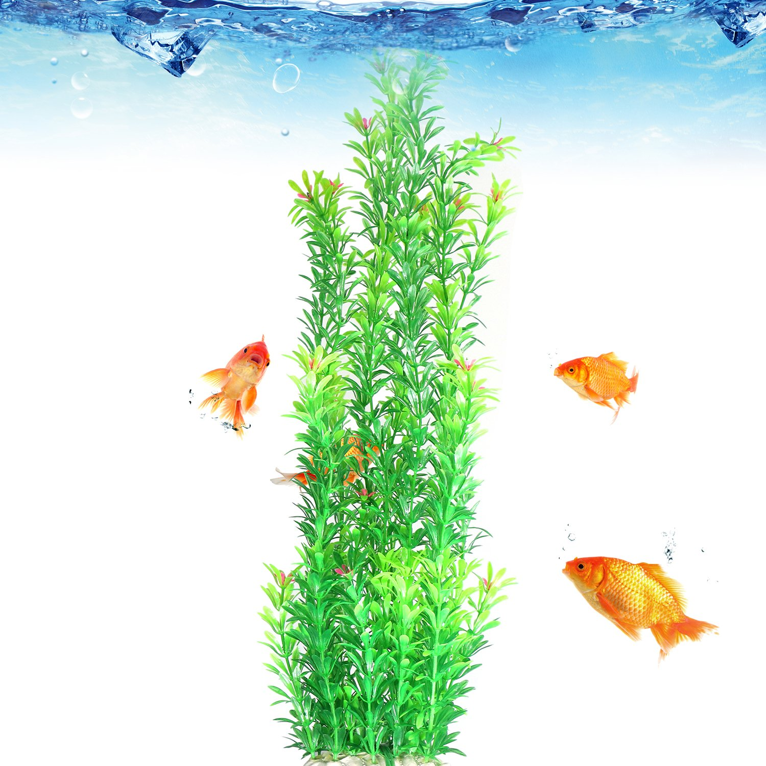 Amazon.com : Tacobear Artificial Plastic Plant Green Aquarium Fish ...