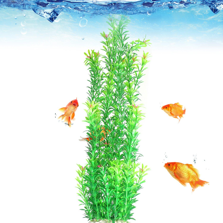 1935e152 Amazon.com : Tacobear Artificial Plastic Plant Green Aquarium Fish Tank  Underwater Plant 20 inch Aquatic Plants : Pet Supplies