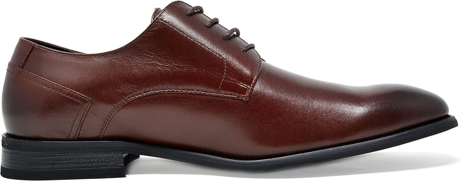 Bruno Marc Mens Oxford Classic Formal Wingtip Brogue Lace Up Dress Shoes