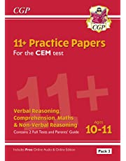 New 11+ CEM Practice Papers: Ages 10-11 - Pack 3 (with Parents' Guide & Online Edition) (CGP 11+ CEM)