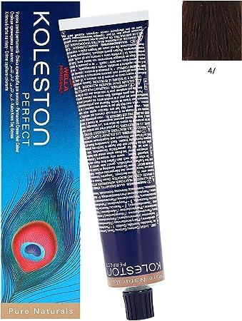 Wella Professionals Koleston - Tinte para cabello (60 ml), 4/ marrón medio puro