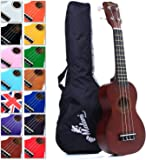 Best Natural Soprano Ukulele with Bag, Great Fun for Adult Beginners and Children LOVE Ukuleles (the #1 Music Instrument) with FREE eBook and 'String Stretching' Guide to Get You Enjoying the Uke FAST!