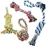 Pecute Hundeseile Hundespielzeug Kauspielzeug Baumwollseil Spielset von Pecute ideal für kleine bis mittelgroße Hunde und Welpen aus natürlichen hochwertigen Baumwollfasern