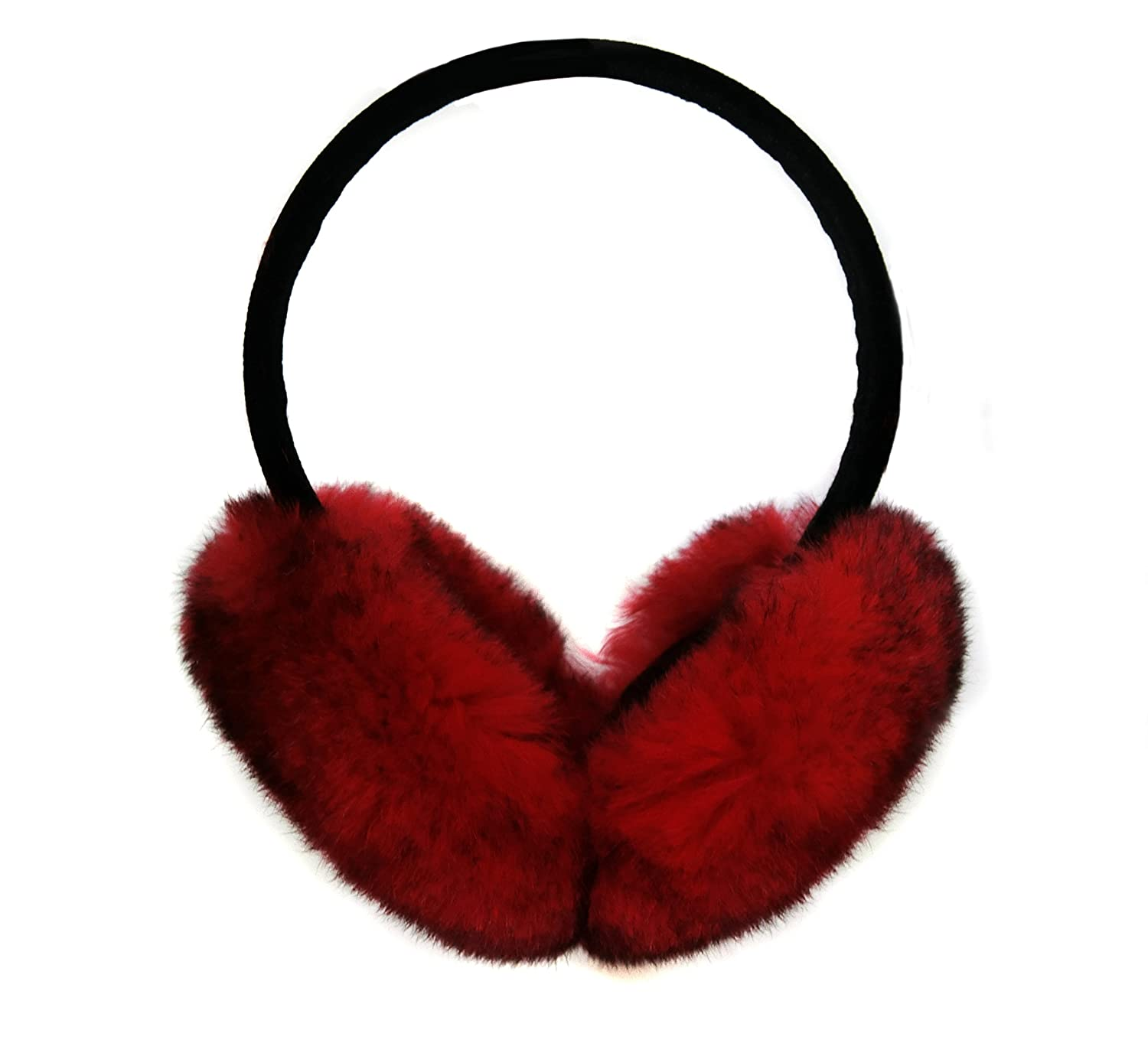 Rabbit Hair Earmuff for Winter, Soft and Warm,Foldable and Easy Carry (White) ERM-001-A