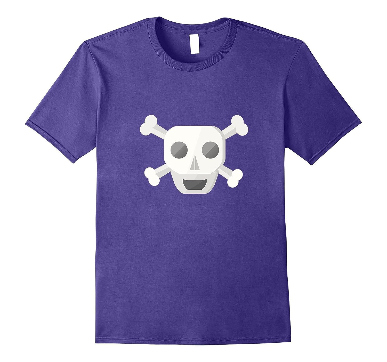 Cute Funny Scary Cross Bone Skull Halloween Shirt-Art