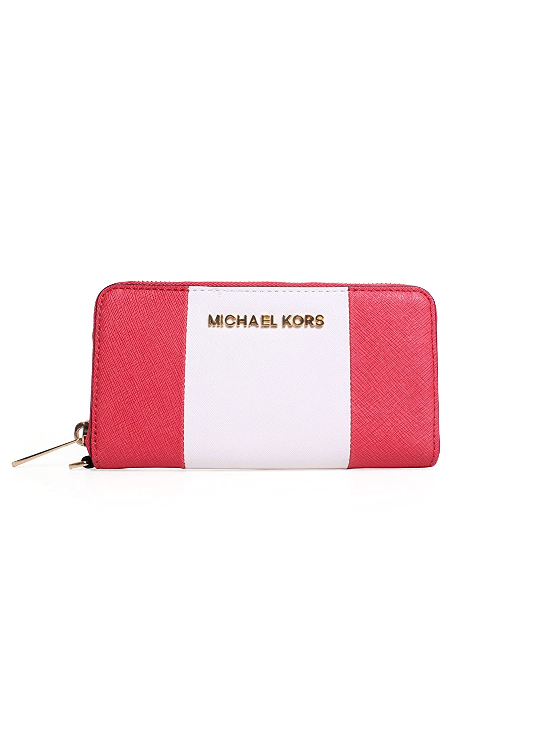 daa23bc0996e Amazon.com: Michael Kors Jet Set Travel Center Stripe Large Multifunction  Phone Wristlet in Watermelon/White: Cell Phones & Accessories