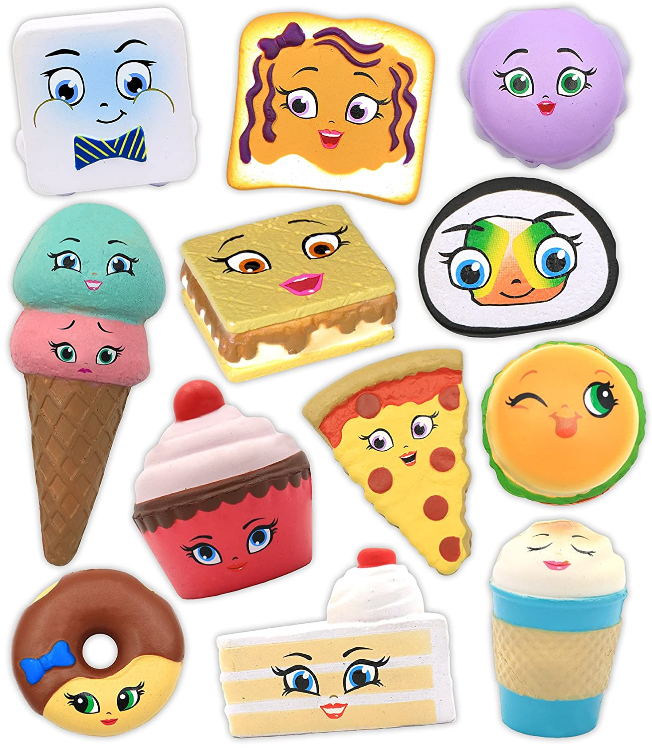 Full Case of 20 Kawaii Squeezies Series 4 Blind Box Accessories Squishy Toy New