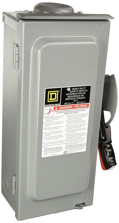 SCHNEIDER ELECTRIC Switch Not Fusible Hd 600-Volt 30-Amp 3-Point Nema-3R HU361RB 600V 30A 3P Nema3R