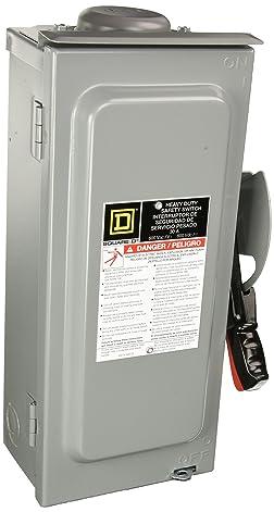SCHNEIDER ELECTRIC 600-Volt 30-Amp 3-Point Nema-3R HU361RB Switch Not Fusible Hd 600V 30A 3P Nema3R