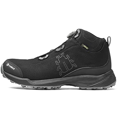 Icebug Gore-TEX Waterproof Boots for Men: Detour BUGrip GTX Mens Outdoor Walking Boot, Studded Traction Sole, BOA Lacing | Hiking Boots