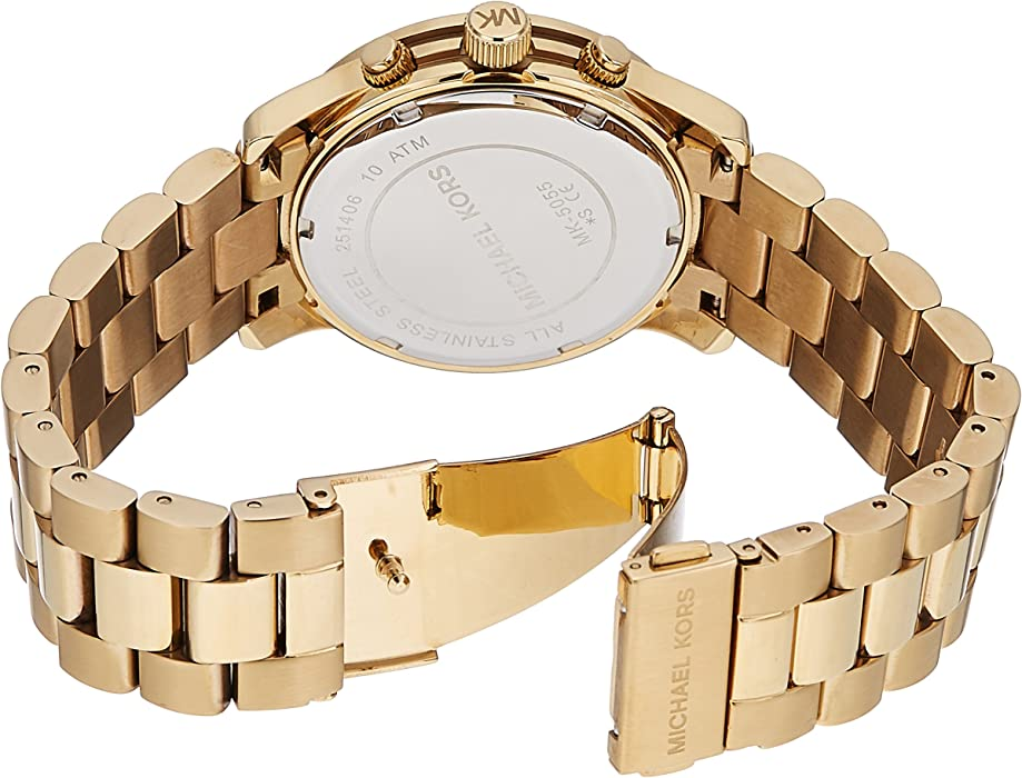 0bdbf90448e7 Michael Kors Women s MK5055 Runway Gold-Tone Watch  Michael Kors ...