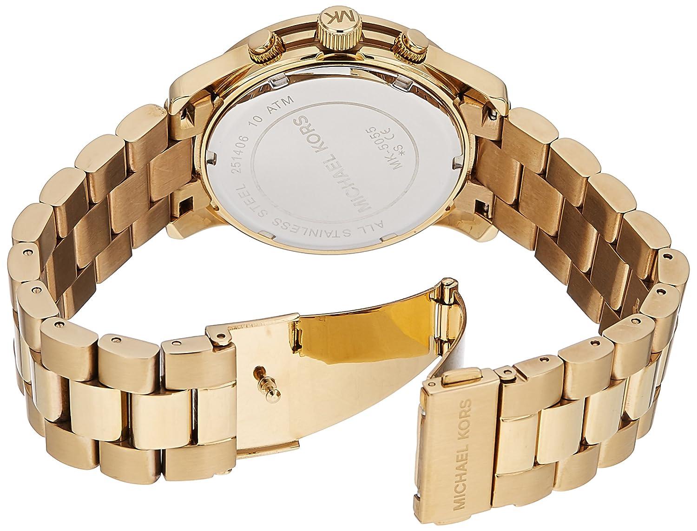 03978f8950e5 Amazon.com  Michael Kors Midsized Chronograph Gold Tone Womens Watch MK5055   Michael Kors  Watches
