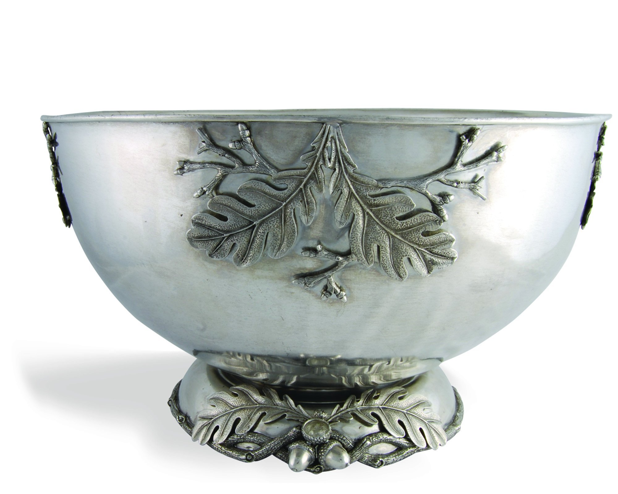Vagabond House Pewter Charter Oak Ice Tub Punch Bowl 18.5'' Wide x 11'' Tall