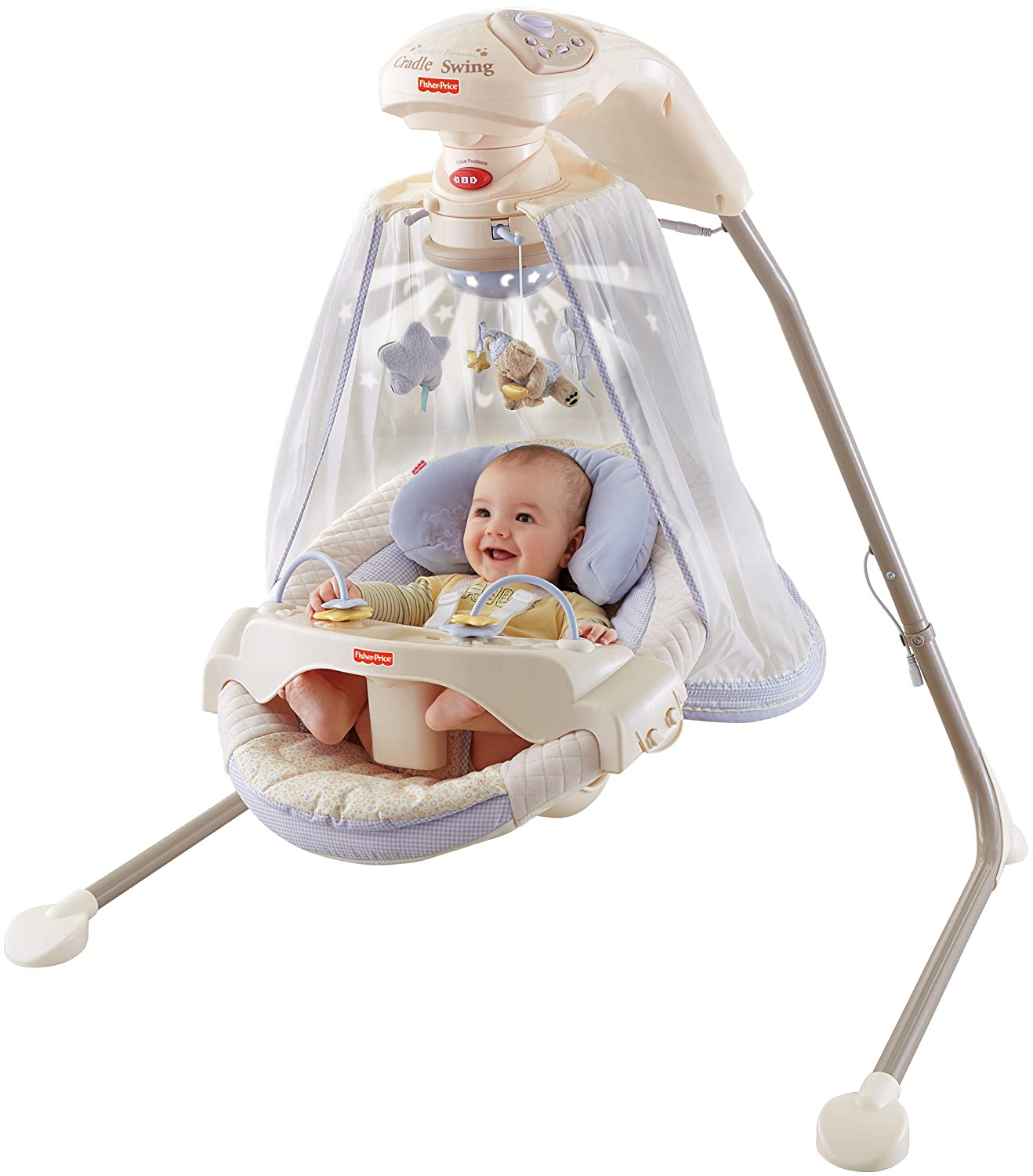 Baby Spring Schommel.Amazon Com Fisher Price Papasan Cradle Swing Starlight