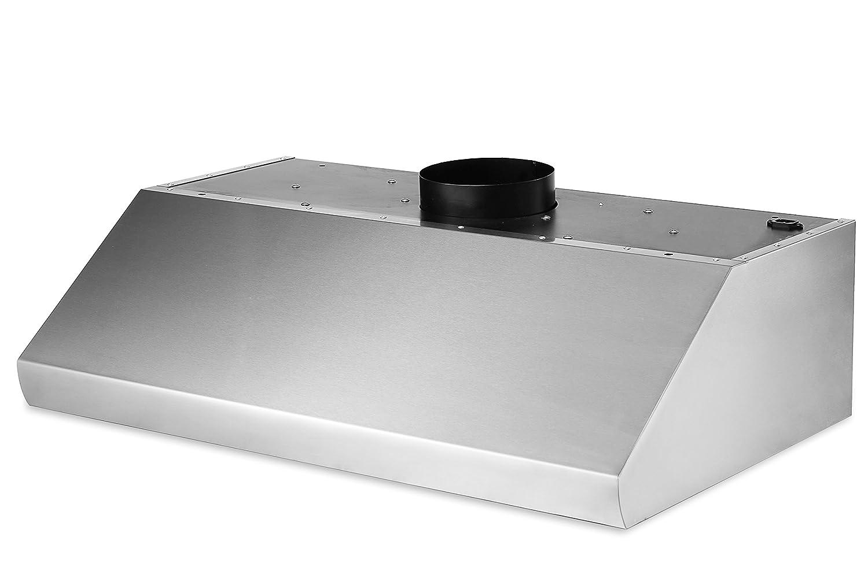"Thorkitchen HRH4806U 48"" Under Cabinet Range Hood with 900 CFM Push Control, Stainless Steel"