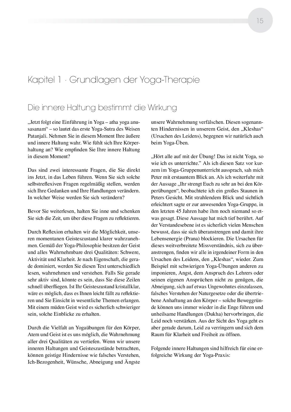 Das große Yoga-Therapiebuch - Yogapraxis für die Gesundheit und ...