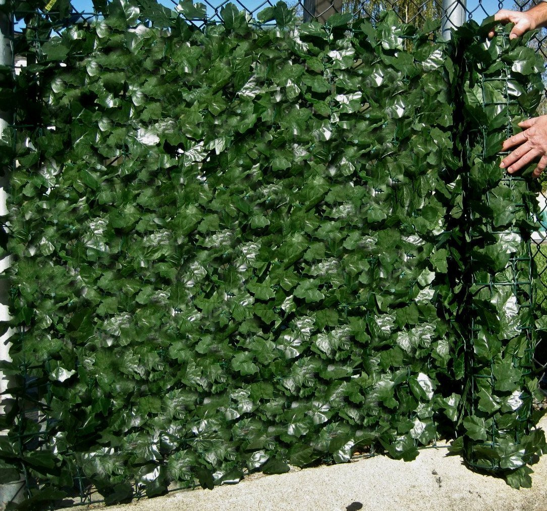 Best Artificial (TM) English Ivy Leaf Screening 3m x 1.5m Privacy Hedging Wall Landscaping Garden Fence **UV Fade Protected** (1)