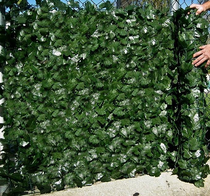Best Artificial (TM) englische Efeu-Schutzwand, 3 m x 1,5 m, Sichtschutz / Hecke, Landschaftsgartenzaun, ** UV-beständig, ver