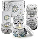 Scented Candle Sets for Gift, Aromatherapy Candles, Soy Wax Stress Relief Candles for Women, Portable Travel Tin Candles Wome