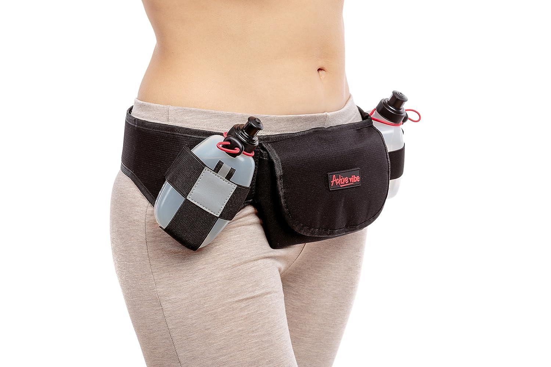Hydration Running Belt with 2つBPAフリー水ボトルアクティブなバイブで含ま| Iphone 6 Plus、iPhone 7 Plus |easilyにadjustable|   B01LXKGEVH