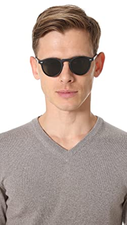 e3d67be0c56 Oliver Peoples 5217S 1031P2 Matte Black Gregory Peck Sun Round Sunglasses  Polar  Oliver Peoples  Amazon.co.uk  Clothing