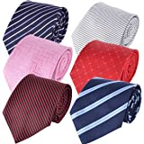 Borje 6 pcs Mens Solid Eco-friendly Fashion Tie - Multiple Ties Variations to Chose From