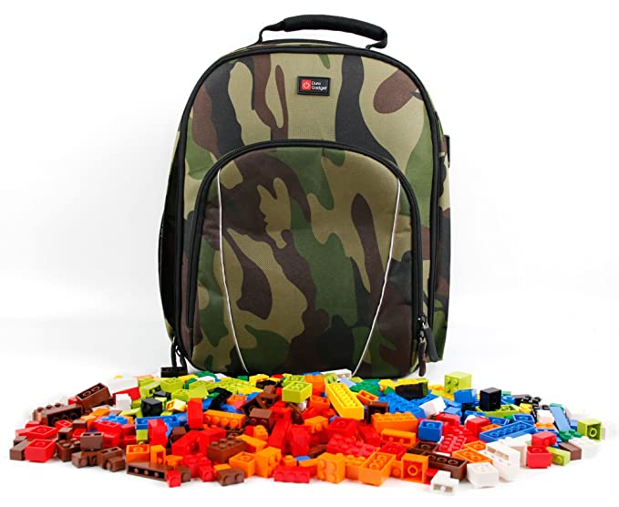 886213b4b25 DURAGADGET Camouflage Print, Water-Resistant Compact Backpack Organiser -  Compatible with Kids Lego/
