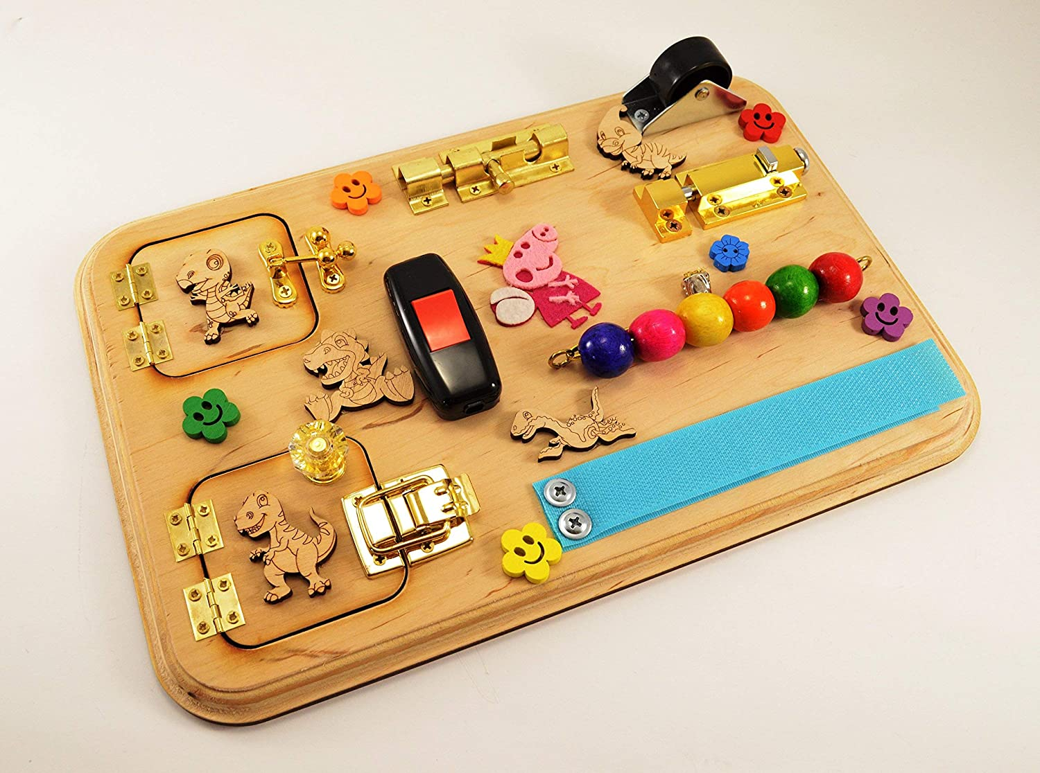 Travel busy board Mini sensory board Busy board for toddler Activity board Baby gifts Montessori toys Christmas in july July 4th Gift 1st
