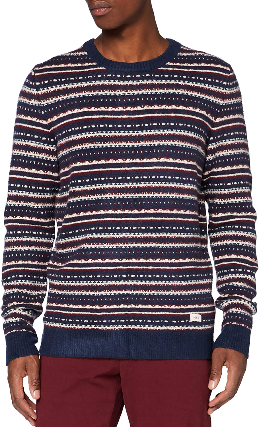 1940s Men's Shirts, Sweaters, Vests Hackett London Mens Hkt Fairisle Crew Sweater £73.35 AT vintagedancer.com