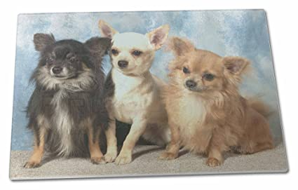 Chihuahua Cutting Board Tempered Glass
