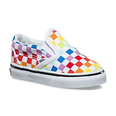 new product 100% quality quarantee enjoy clearance price Vans Toddier Slip-On (Checkerboard) Rainbow/True White VN000EX8U09 Toddler  Shoes