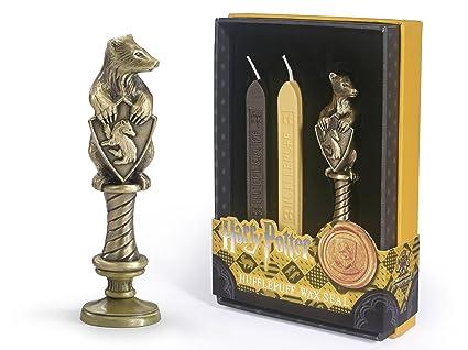 Amazon.com: The Noble Collection Hufflepuff - Sello de cera ...