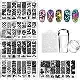 Biutee 5 pcs maniküre Stempelschablonen Nail Art Plates Stamping Nagel Bildstempel Schablone Metallplatten Nagel Tattoo