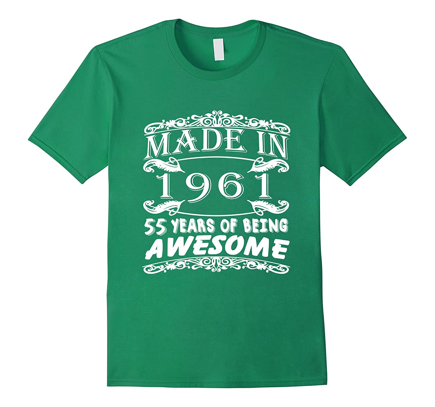 Awesome Age 55 Years 1961 Perfect 55th Birthday T